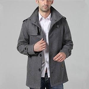 300 x 300 · 13 kB · jpeg, Mens Coat Winter Trench Long Coat Top