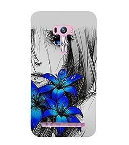 Vizagbeats girl behind flowers Back Case Cover for Asus Zenfone Go::Asus Zenfone Go ZC500TG
