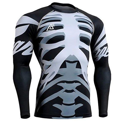 Men's Flexible Active Running Yoga Athletic Seamless Long Sleeve Shirt Asian Size M-4XL Grey