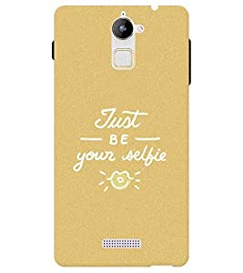 Chiraiyaa Designer Printed Premium Back Cover Case for Coolpad Note 3 Lite (just be your selfie typography sand pattern) (Multicolor)