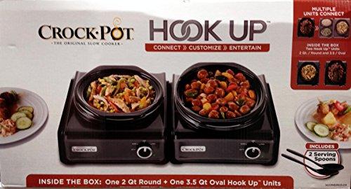 Crock-Pot 2 Unit Hook-Up 2 Qt. Round 3.5 Qt. Oval
