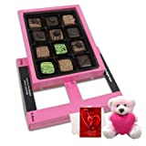 Chocholik Luxury Chocolates - Starbrust Collection Of Pralines Chocolates For Love One With Teddy And Love Card