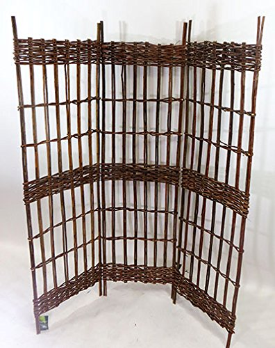 Master garden products three panel round top willow screen for Master garden products