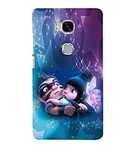 EPICCASE Cute dad & baby Mobile Back Case Cover For Huawei Honor 5X (Designer Case)