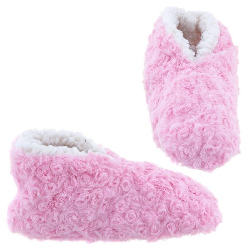Cheap GMI Snuggle Feet Pink Slippers for Women (B009TH1X06)