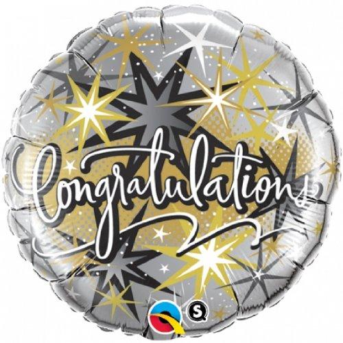 Congratulations Elegant, 18 inch Round - Foil - 1