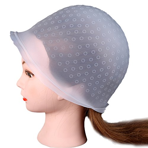 Lookatool Professional Salon Reusable Hair Colouring Highlighting Dye Cap Hat Hook Frosting Tipping (Clear) (Bowl Hair Dryer compare prices)
