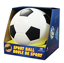 POOF-Slinky 751 POOF 7.5-Inch Foam Soccer Ball with Box, Colors and Style May Vary