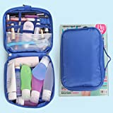 Black Menba Portable Toiletry Wash Bag With Multi Pockets And Hook(blue),