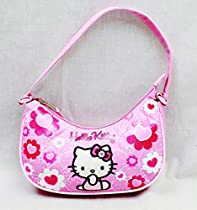 Handbag - Hello Kitty - Pink Flower Bow New Hand Bag Purse Girls 84019