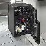 Wine Enthusiast 272 03 24 05 Silent 24 Bottle Dual Zone Touchscreen Wine Cooler, Black