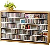 695枚収納 CD屋さんのCD/DVDラック 幅139.2cm インデックスプレート20枚付き (ナチュラル N)