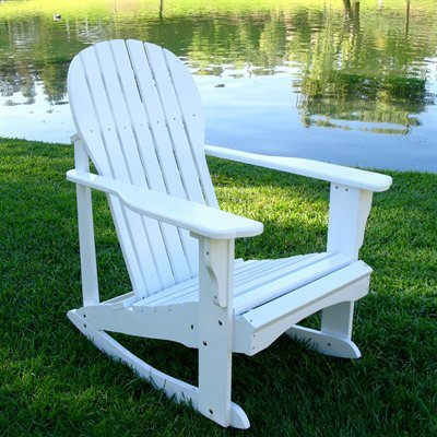 Adirondack Chair Rocker In White