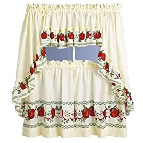 Red Delicious - Insert Valance Kitchen Curtain