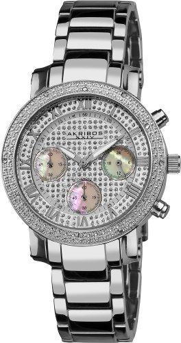 Akribos XXIV Women's AKR440SS Diamond Accented Chrongraph Watch