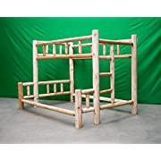 Midwest Log Furniture - Premium Log Bunkbed - Twin Over Full
