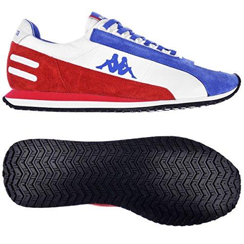 Kappa AUTHENTIC LA84 US MEDAL Scarpe Sneakers Bianco Blu Rosso per Unisex