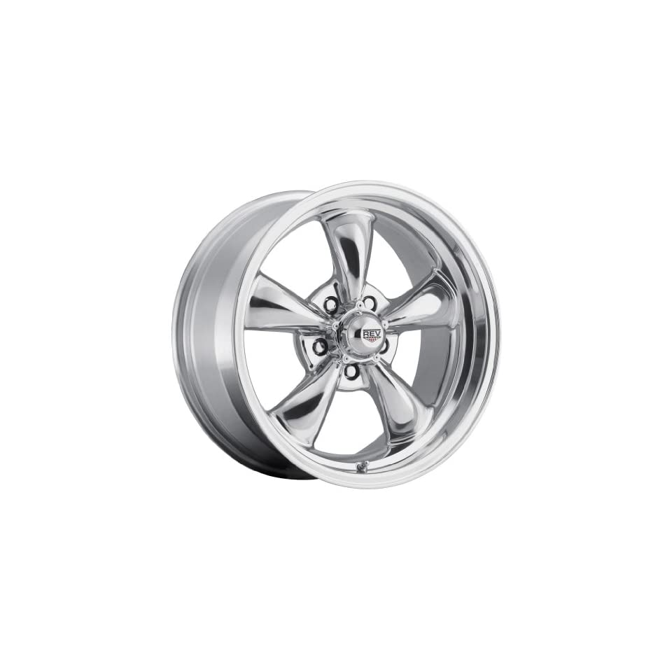 18 inch 18x9 Rev 100P polished wheel rim; 5x4.75 5x120.65 bolt pattern with a +0 offset. Part Number 100P 8906100 Automotive