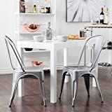 Replica Tolix Metal Chairs set of 2 IN SHINING SILVER