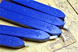 Manuscript Sealing Seal Wax Sticks Wicks for Postage Letter 10PCS navy blue