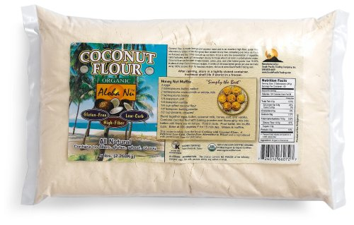 Aloha Nu Certified Organic Coconut Flour, 80-Ounce Bag