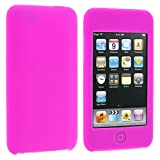 Hot Pink Silicone Rubber Gel Soft Skin Case Cover for Ipod Touch 2nd and 3rd Generation 2g 3g 2 3 8gb 16gb 32gb 64gb by Electromaster