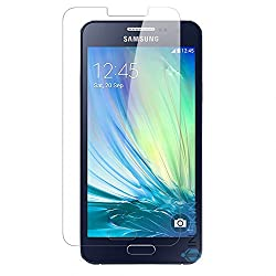 Samsung Galaxy A3 Tempered Glass Screen Protector with OTG Cable (TEMPERED GLASS + OTG CABLE) COMBO by DRaX®