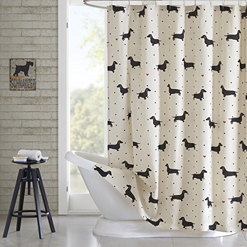 Candicestores Shower curtain, Made with Unique Dachshund Pattern Printed Bath Home Textile Design Spa Bathroom Decor, 60 ¡Á 72-INCH