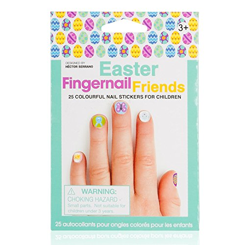 Fingernail Friends Nail Stickers Nail Art for Children, Easter (50 Stickers) - 1