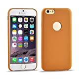 0.3mm Ultrathin PU Leather Back Cover Protective Case for iPhone 6 Plus(Brown)