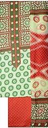 NAVRANG Women's Cotton Dress Material (NDT03, Green)