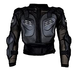 Auto Pearl - Fox Riding Gear Body Armor Jacket For Bike Protective Jacket - Black -Size - L