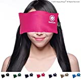Yoga Eye Pillow - Lavender Eye Pillow For Yoga - Best Namaste Yoga Eye Pillows Made in USA. Use Hot or Cold for Stress Relief, Headaches, Sinus Pain & to Relax. By Happy Wraps® The Perfect Gift! (Pink)