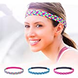 EDTara Sport Braided Headband For Women Outdoor Sports Fitness Braided Elastic Hair Bands Non-slip Elastic Stretch...