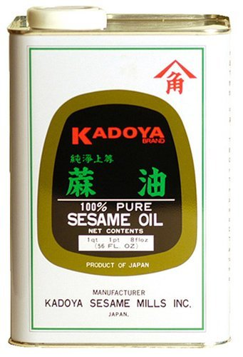 Kadoya Pure Sesame Oil, 56-Ounce Cans (Pack of 2)