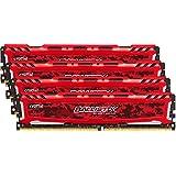 Ballistix Sport LT 32GB Kit 8GBx4 DDR4 2400 MT S PC4-19200 DIMM 288-Pin - BLS4K8G4D240FSE Red