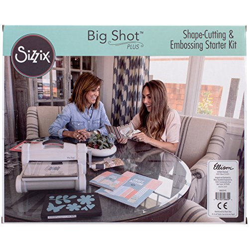 Sizzix 660341 Big Shot Plus Starter Kit, White & Gray (Embossing Starter Kit compare prices)