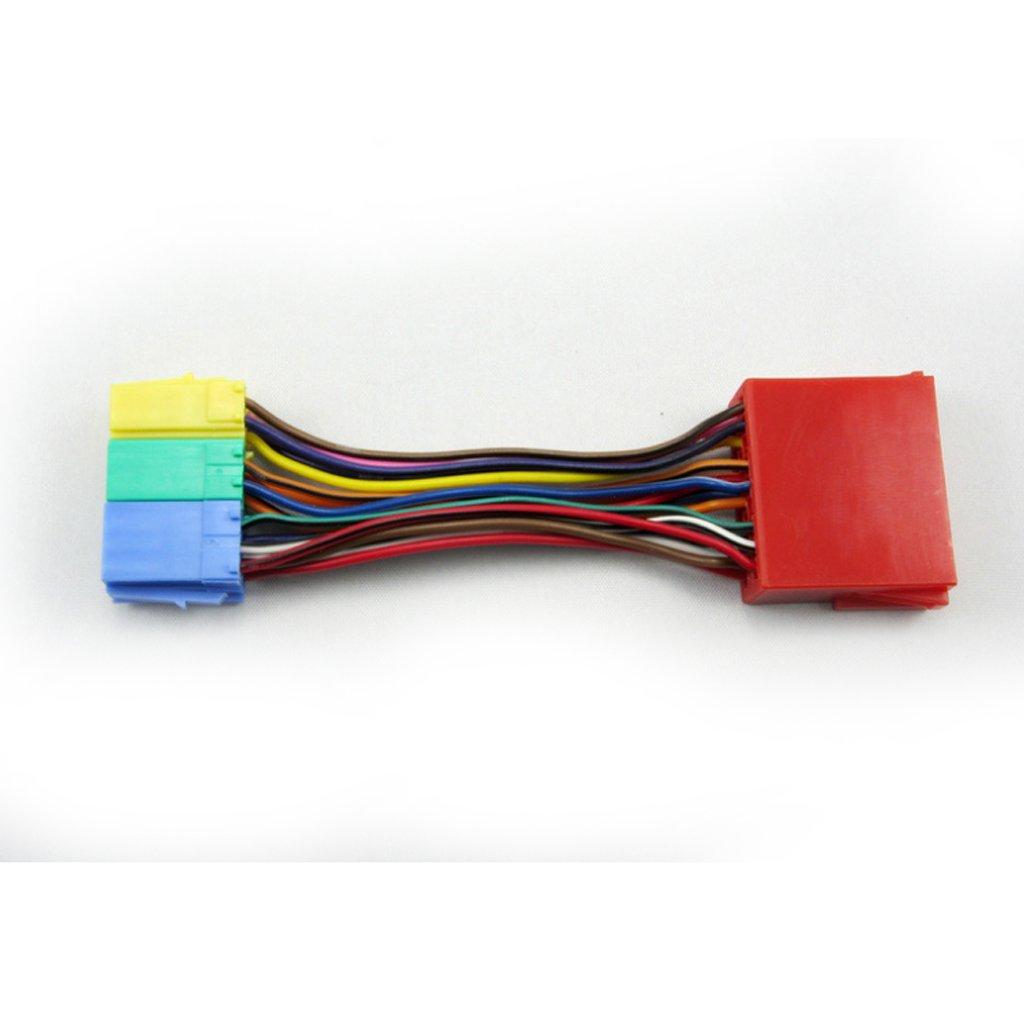 generic 20 pin radio wiring harness mini iso block amazon in generic 20 pin radio wiring harness mini iso block amazon in electronics