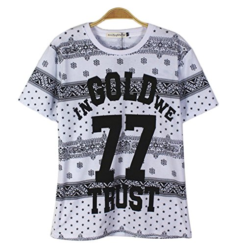 Tm Hip Hop In Gold We 77 Trust Men Round Neck Short Sleeve T-Shirt Cool Casual Tee