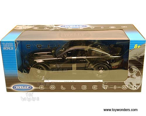 12569webp Welly - Ford Saleen S281 E Mustang Hard Top (2007, 1:18, Black) 12569 Diecast Car Model Auto Vehicle Die Cast Metal Iron Toy Transport