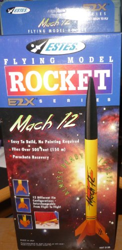 #2130 Estes E2X Series Mach 12 Flying Model Rocket Kit,Needs Assembly
