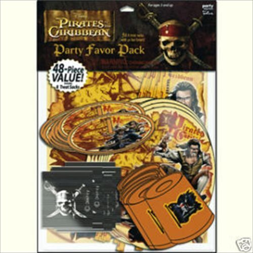 Pirates of the Caribbean 48 piece Favor Pack (1ct)