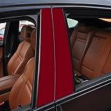 6x matt dunkelrot T�rzierleisten Verkleidung B S�ule T�rs�ule passend f�r Ihr Fahrzeug , geben Sie Ihrem Fahrzeug kosteng�nstig ein sportlichen Touch