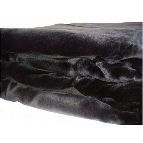 Beautiful Soft Mink Solid Black Blanket Queen or Full Bed