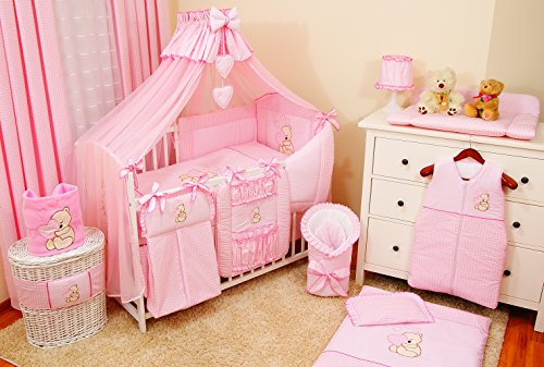 lux4kids kinderbettausstattung bett set 135x100 nestchen. Black Bedroom Furniture Sets. Home Design Ideas