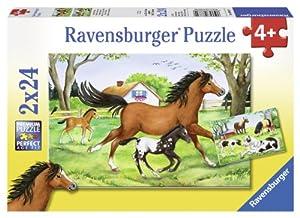 Welt der Pferde - 2 x 24 Teile Puzzle von Ravensburger