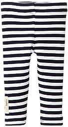 L\'ovedbaby Unisex Baby Newborn Organic Leggings, Navy/White, 0/3 Months