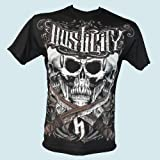 "HOSTILITY CLOTHING ""ILLUMINATI"" BLACK MMA SHIRT SIZE MEDIUM"