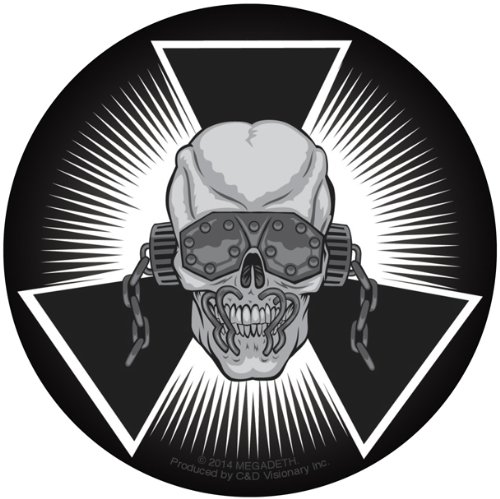 Licenses Products Megadeth Skull Burst Sticker - 1