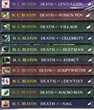 M C Beaton Hamish Macbeth Murder Mystery series: 10 books (Death of a Gentle Lady / Death of a Poison Pen / Death of a Village / Death of a Celebrity / Death of A Dustman / Death of an Addict / Death of a Scriptwriter / Death of a Dentist / Death of a Ma